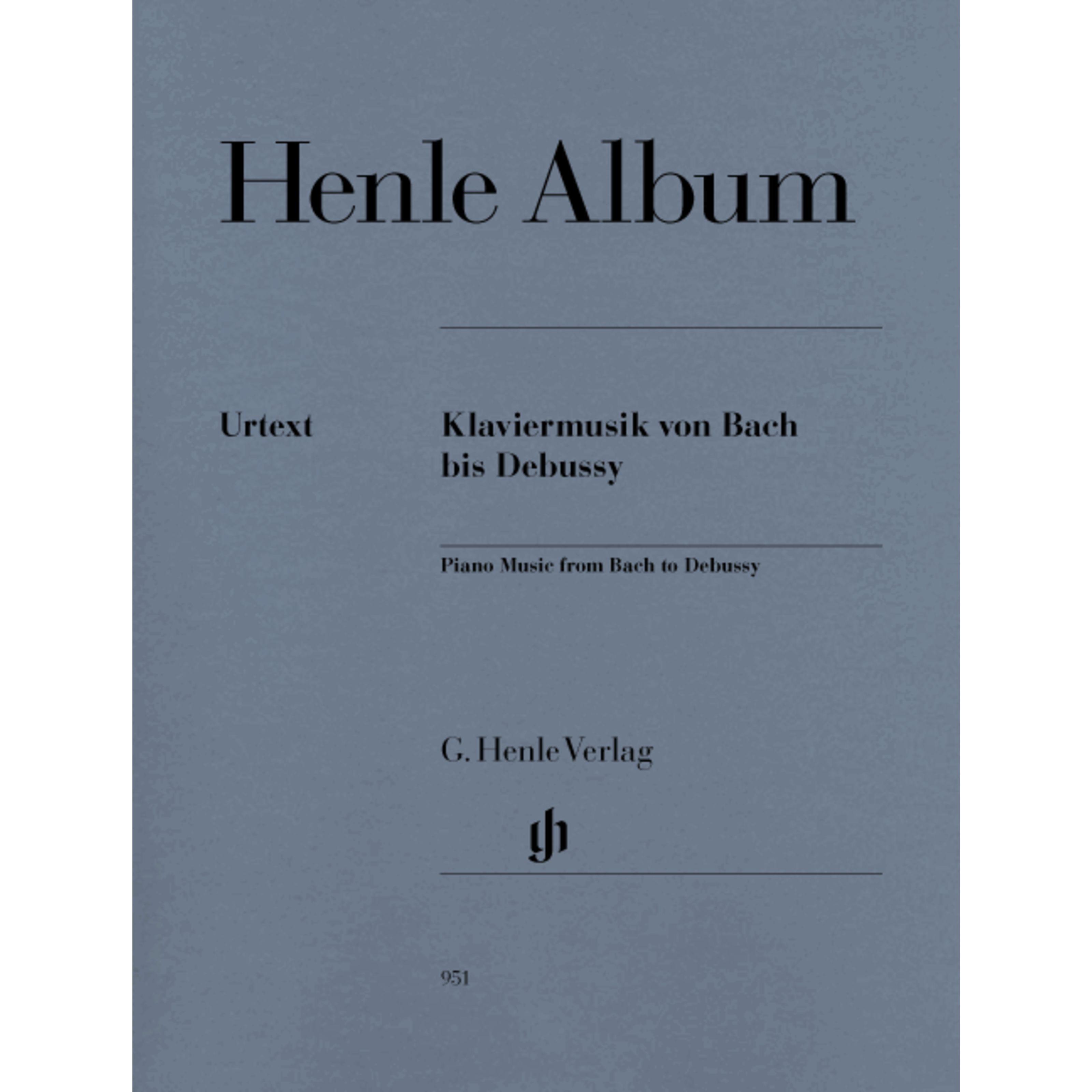 Henle Verlag - Henle Album: Klaviermusik von Bach bis Debussy HN 951