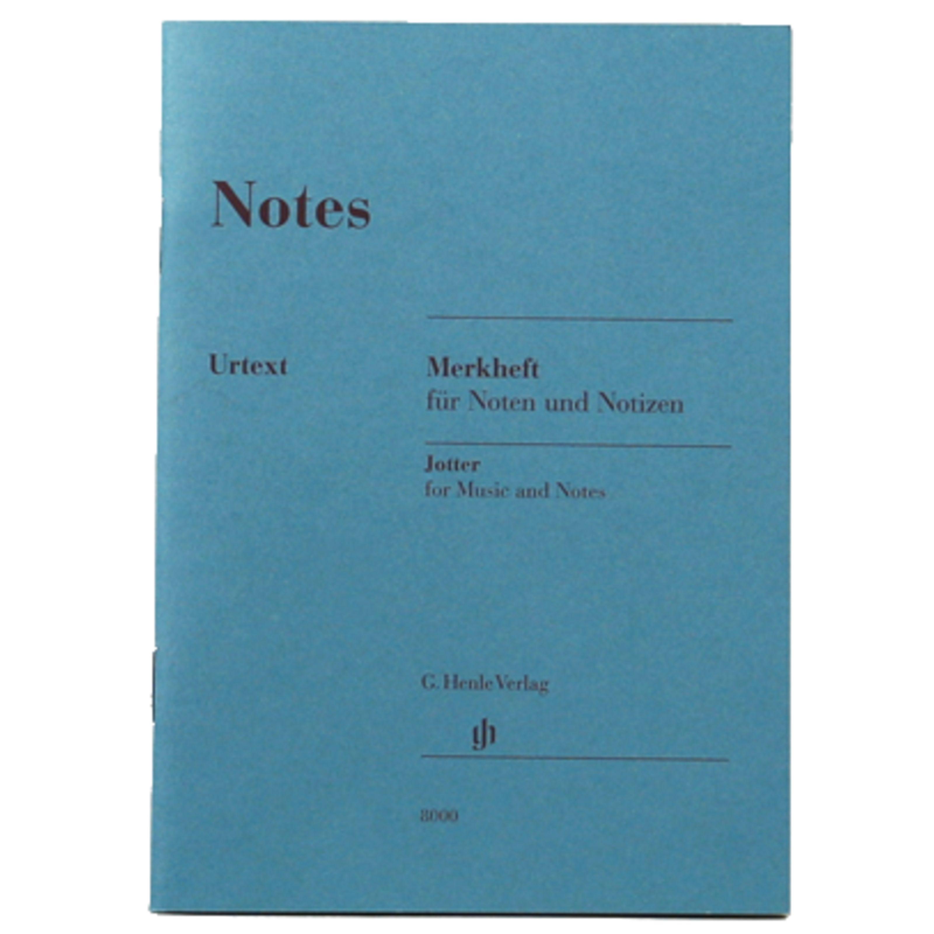 Henle Verlag - Notenheft DIN A6 Notes