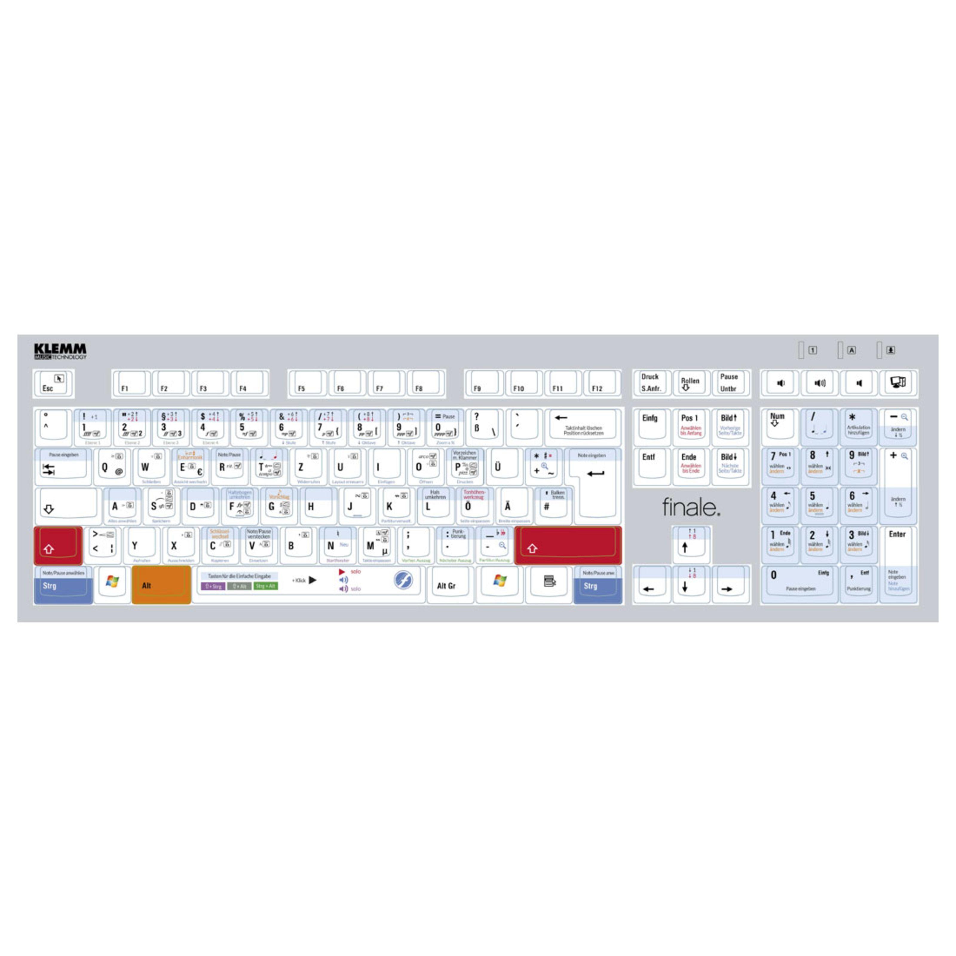 Klemm Musik - Finale PC Tastatur KLELOGKT002
