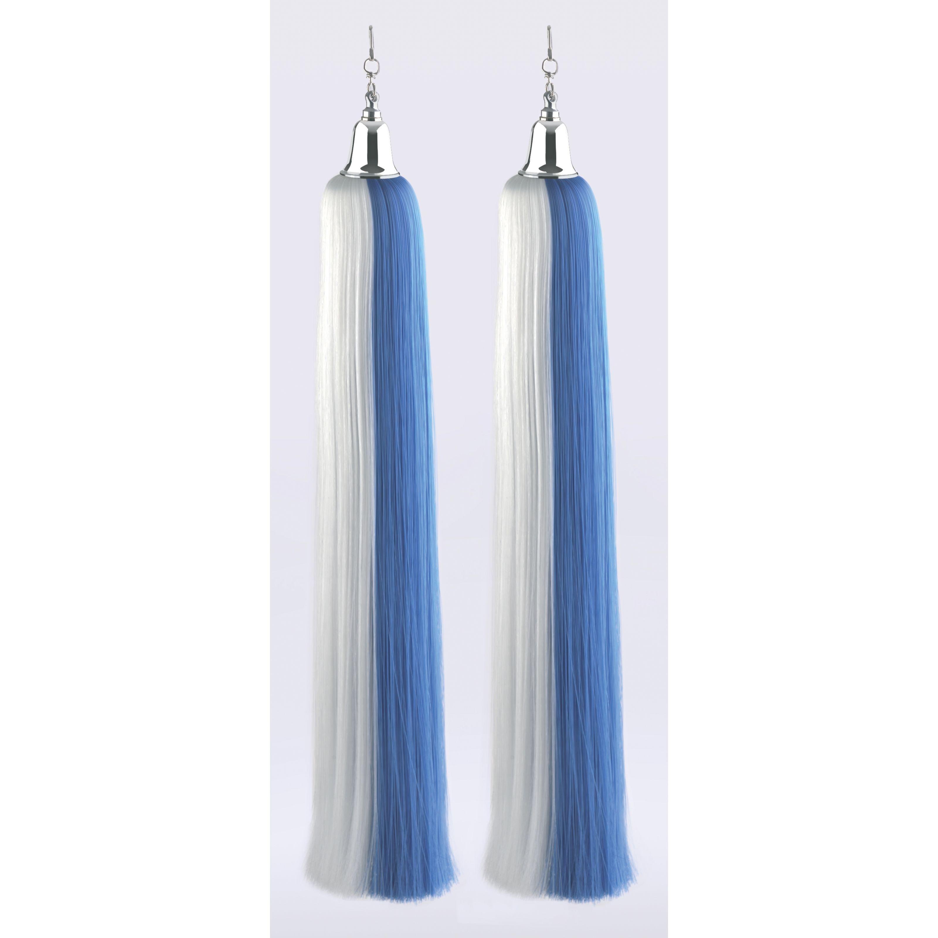KLIER KG - JK Lyra-Schweife, blau-weiß, 1 Paar 510353
