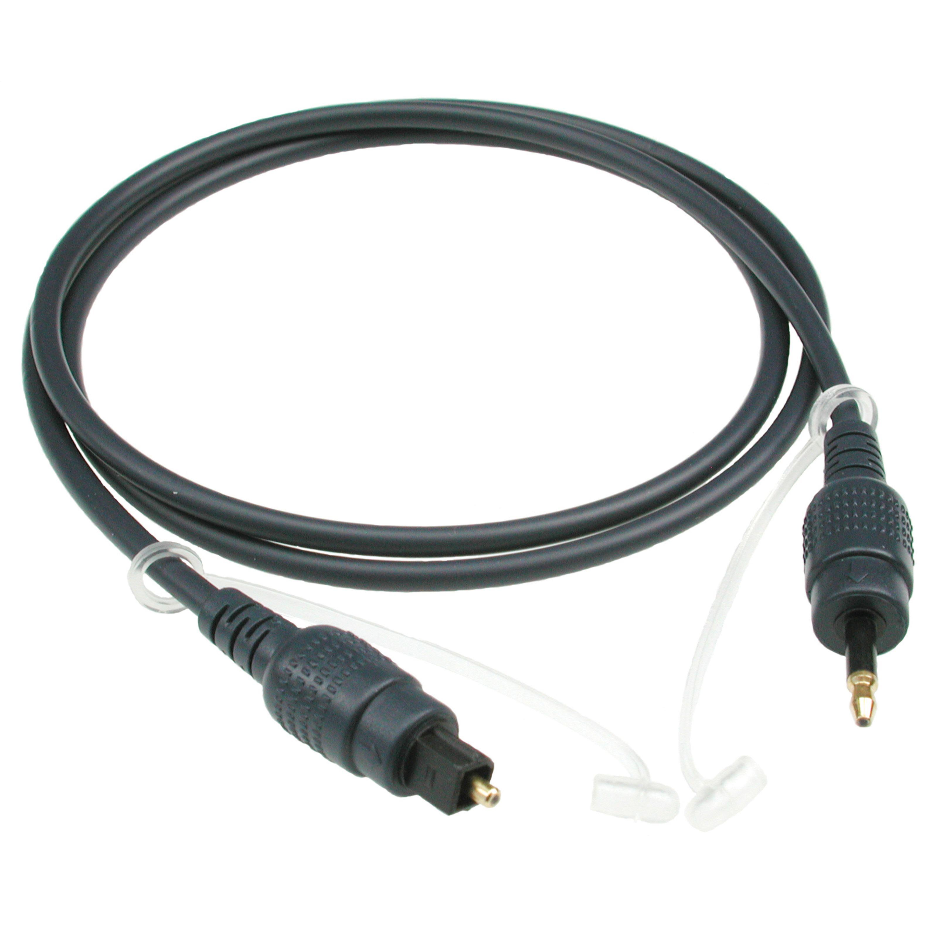 Klotz - Toslink-Kabel - Mini-Klinke 1m Toslink - opt. 3,5mm Klinke FOPTM01