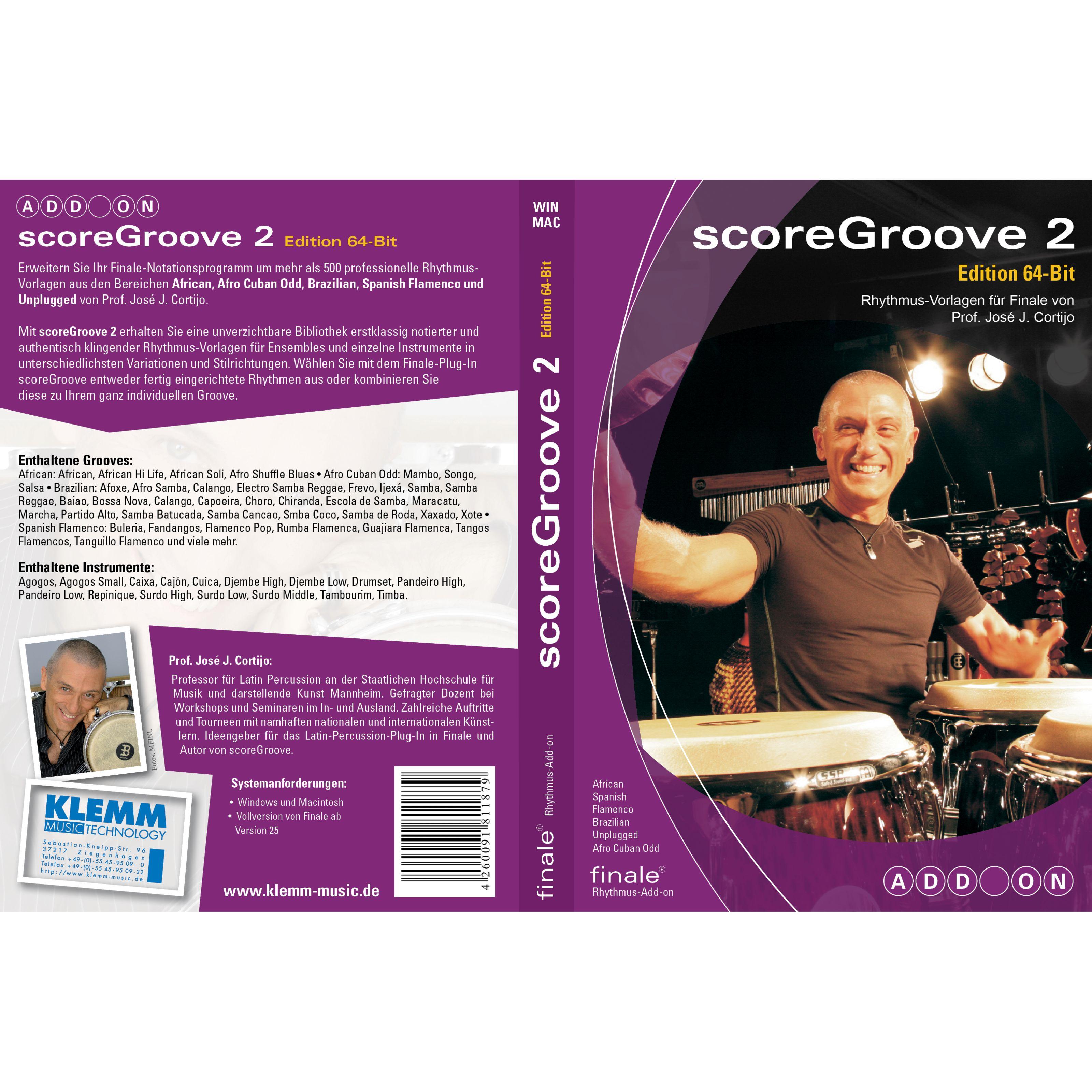 MakeMusic - scoreGroove Vol.2 Groove-Add-On für Finale