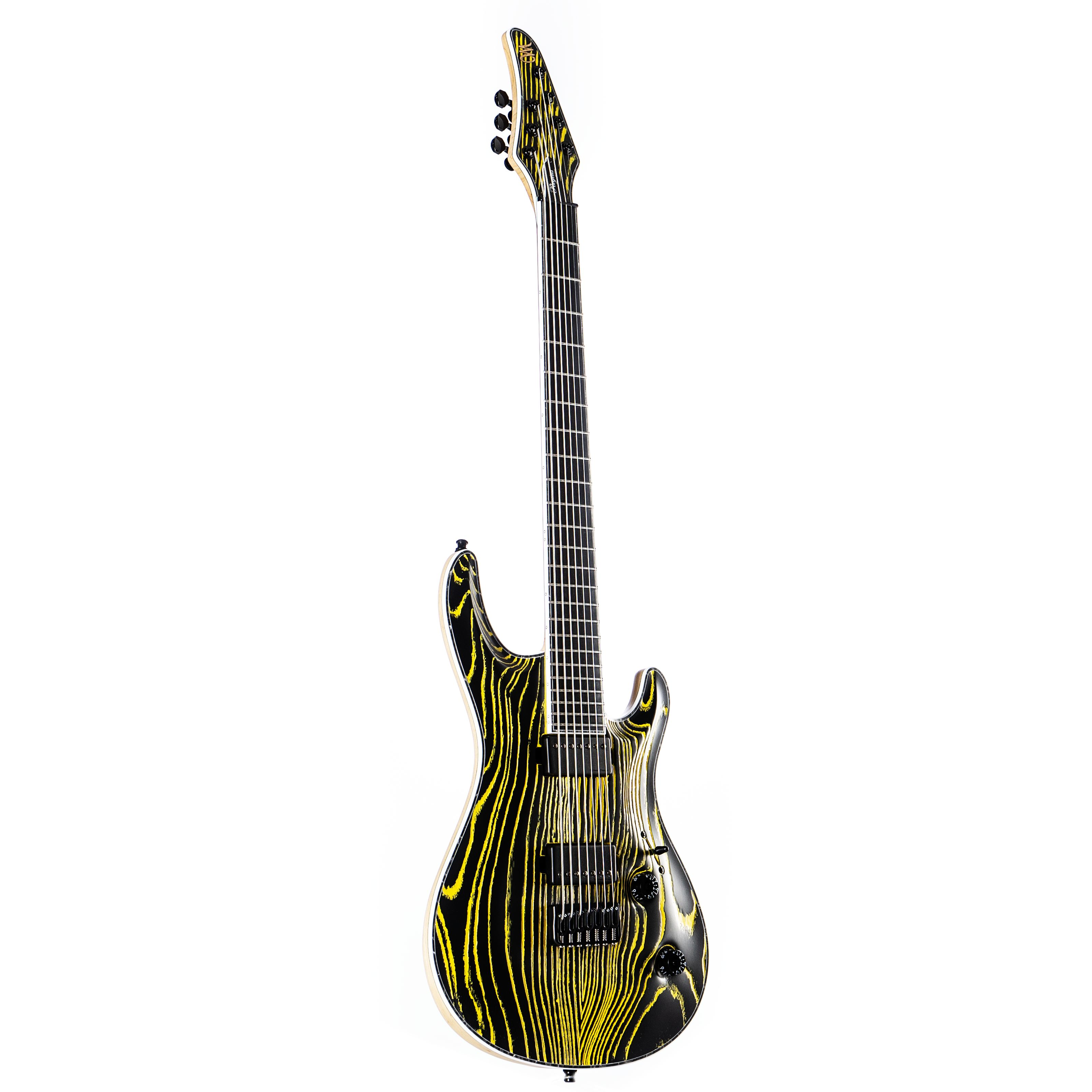 Mayones - Regius Core Gothic 7 Baritone Gothic Black Pored Yellow
