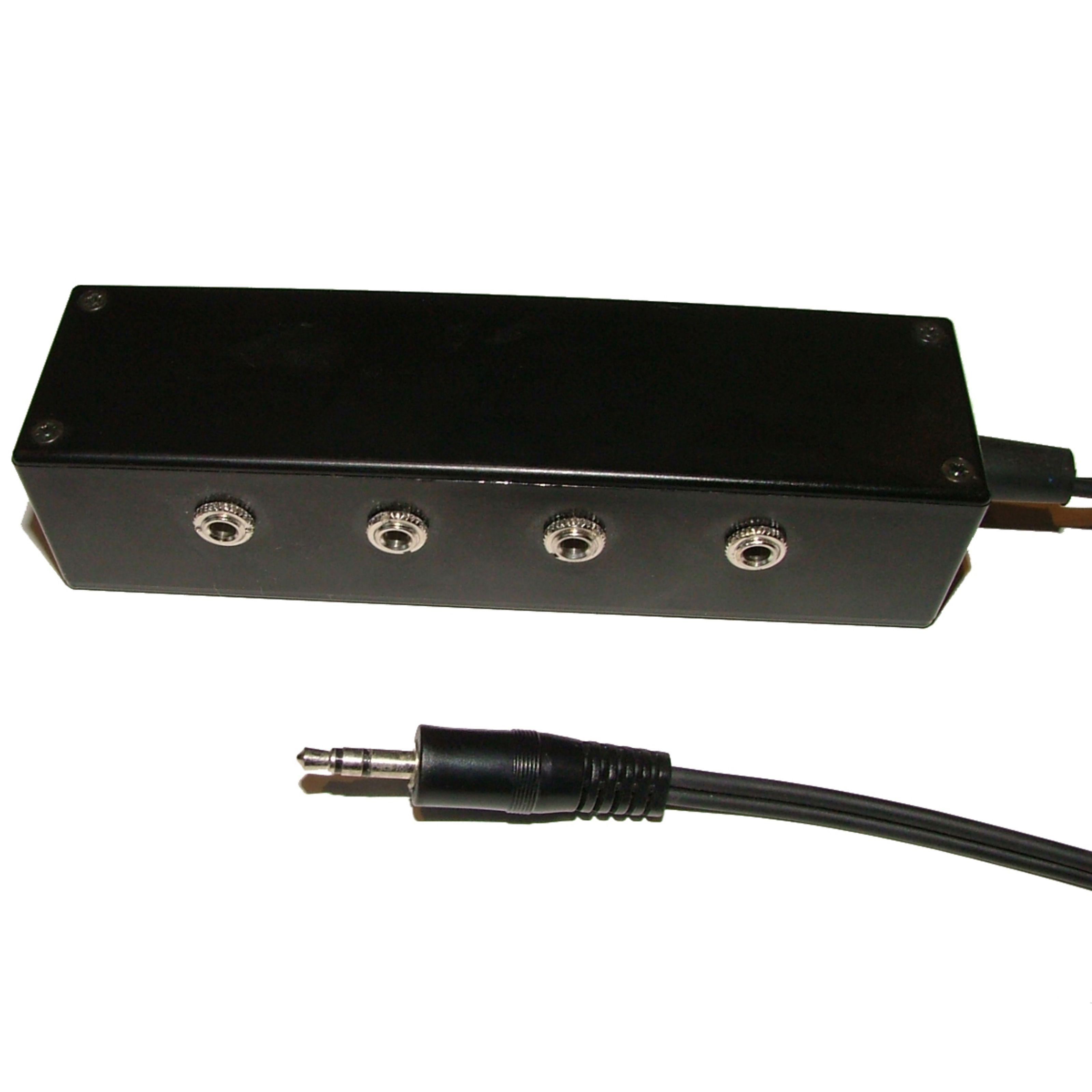 Morgan Acoustic Ltd. - Headphone Splitter 4-Wege 1x 3,5mm 1,5m -> 4x 3,5mm