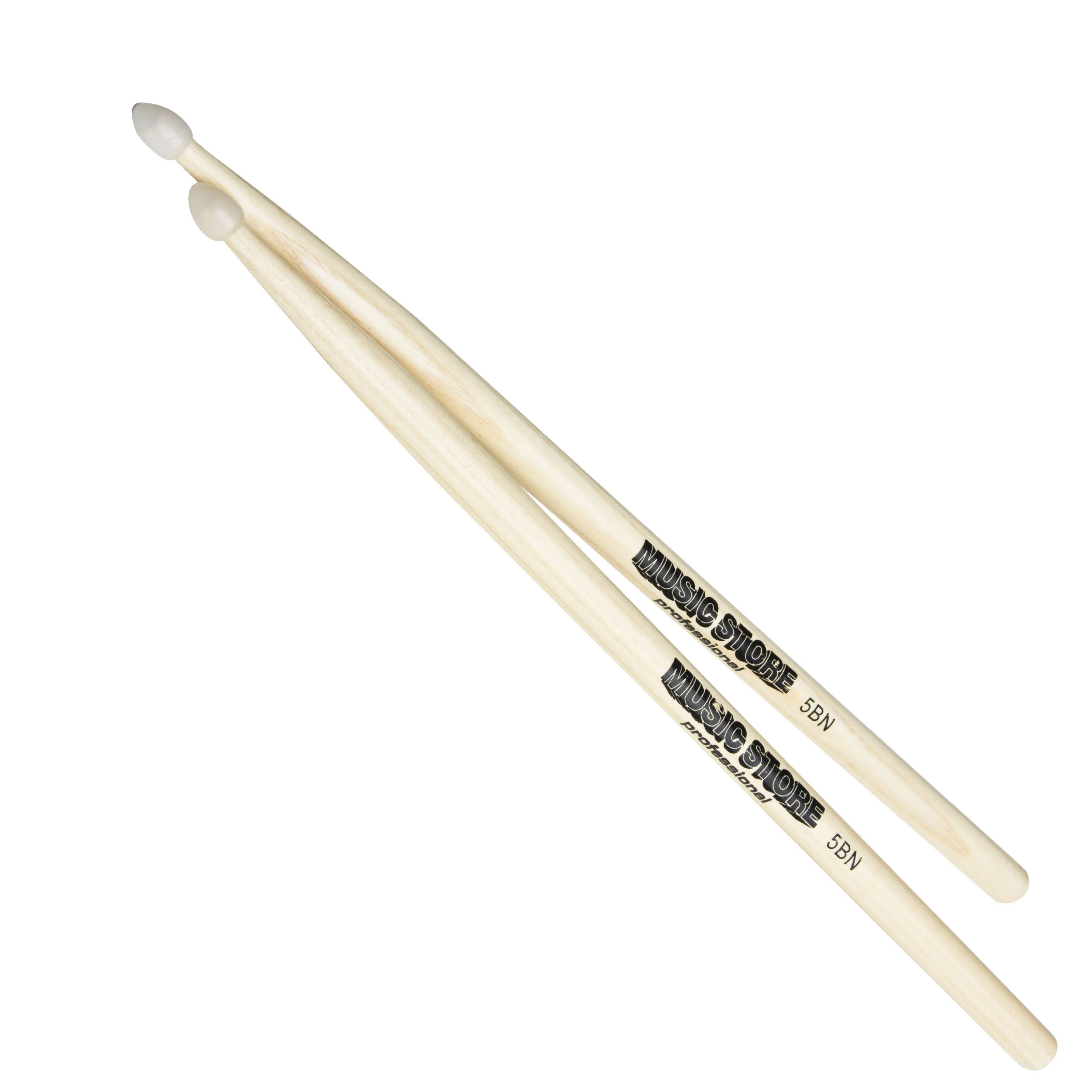 MUSIC STORE - 5BN Hickory Sticks, Nylon Tip 5B HICKORY NYLON TIP