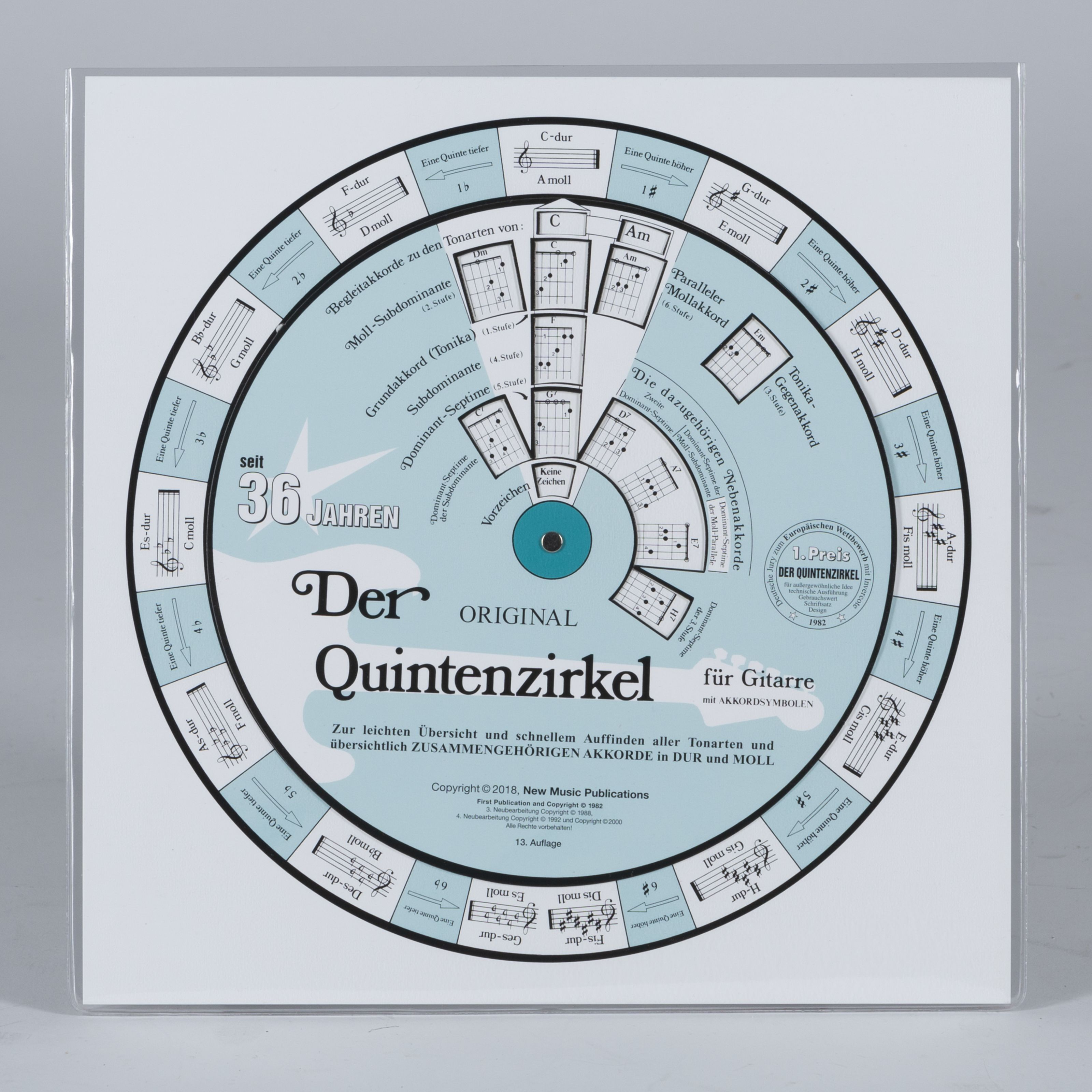 New Music Publications - Quintenzirkel für Gitarre NMP 0002