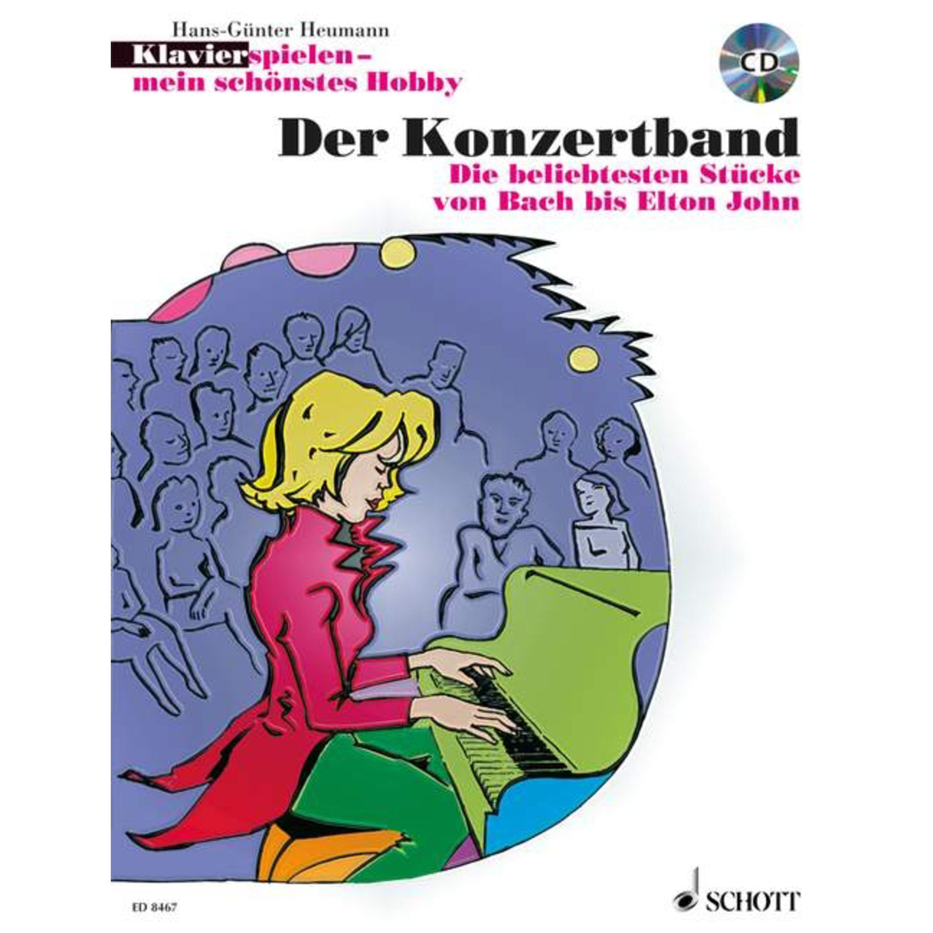 Schott Music - Der Konzertband Heumann, Klavier mein Hobby ED 8467