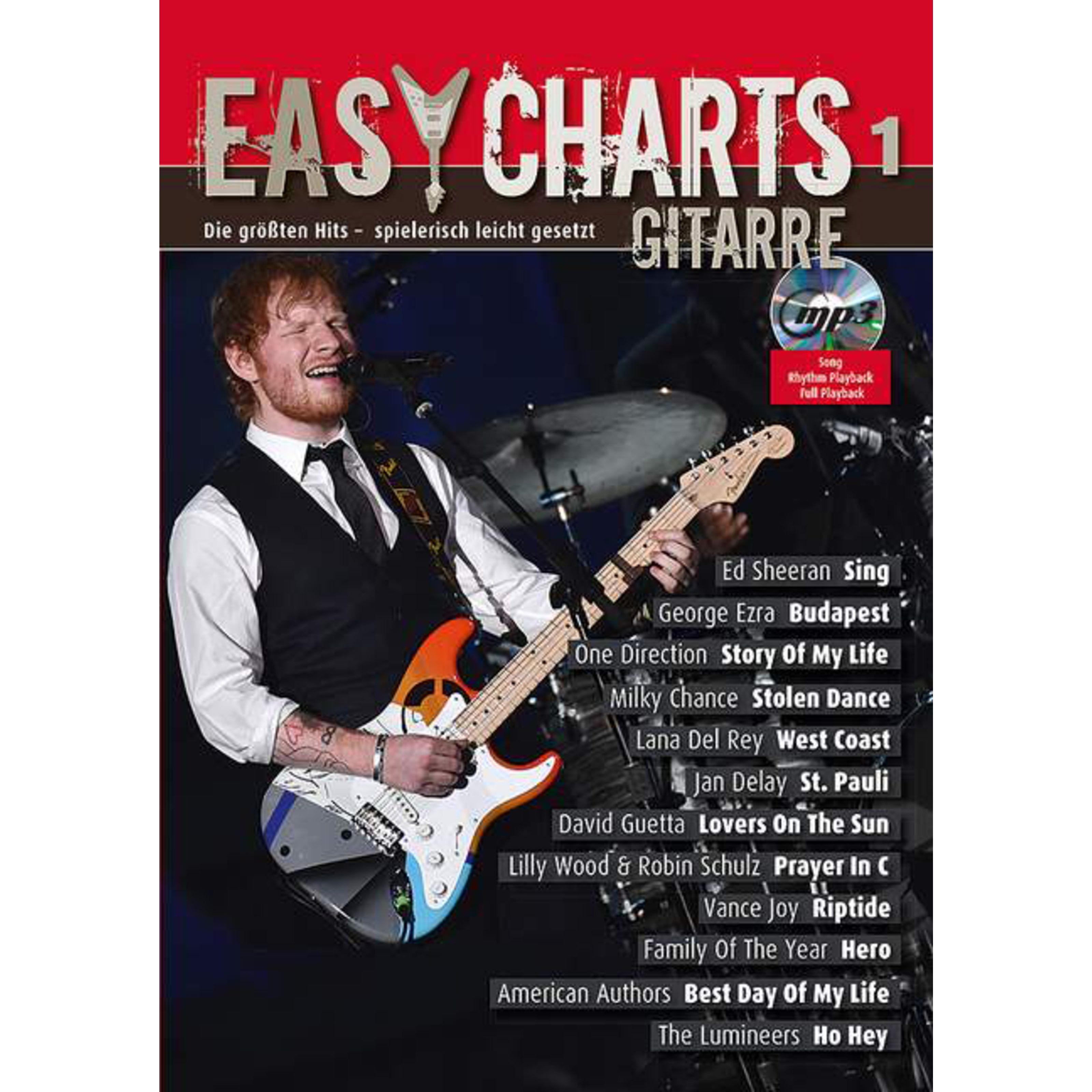 Schott Music - Easy Charts Gitarre 1 Jakut, mit CD MF 3901