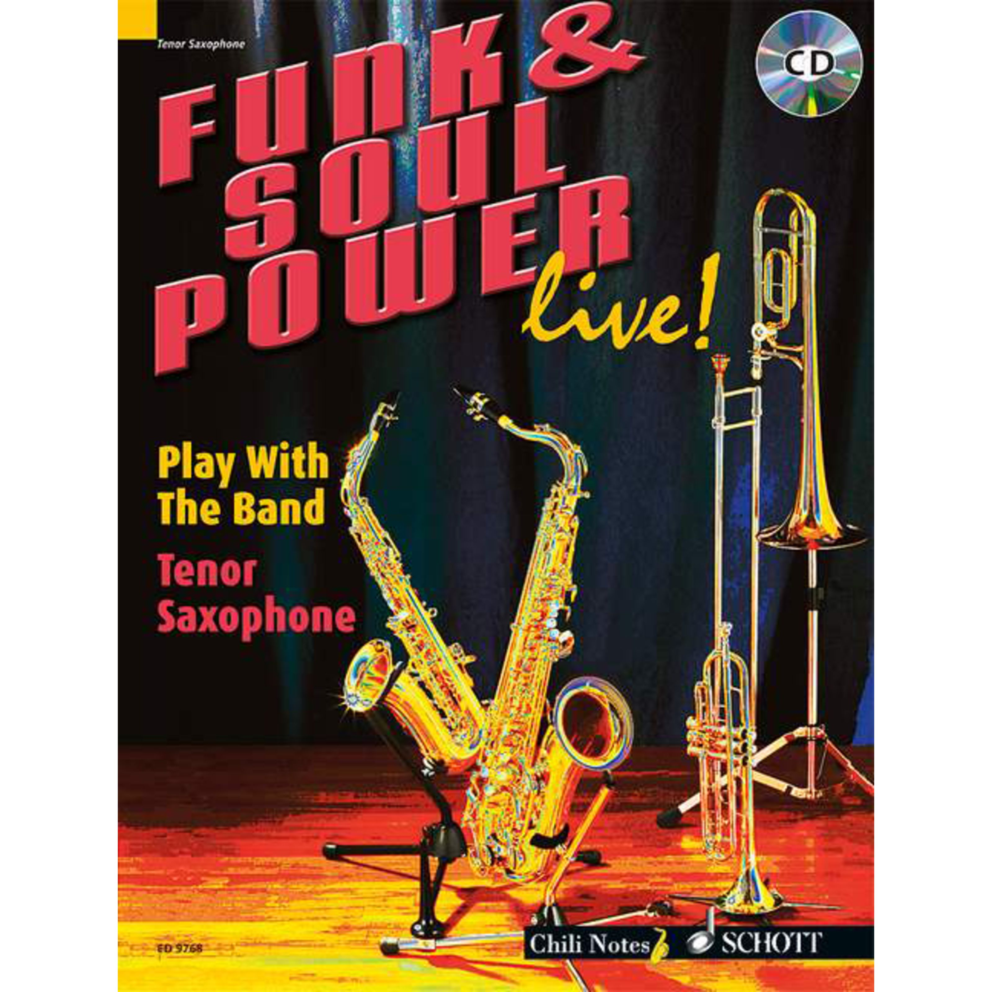 Schott Music - Funk & Soul Power Tenor Saxoph Dechert, Buch und Playalong CD ED 9768