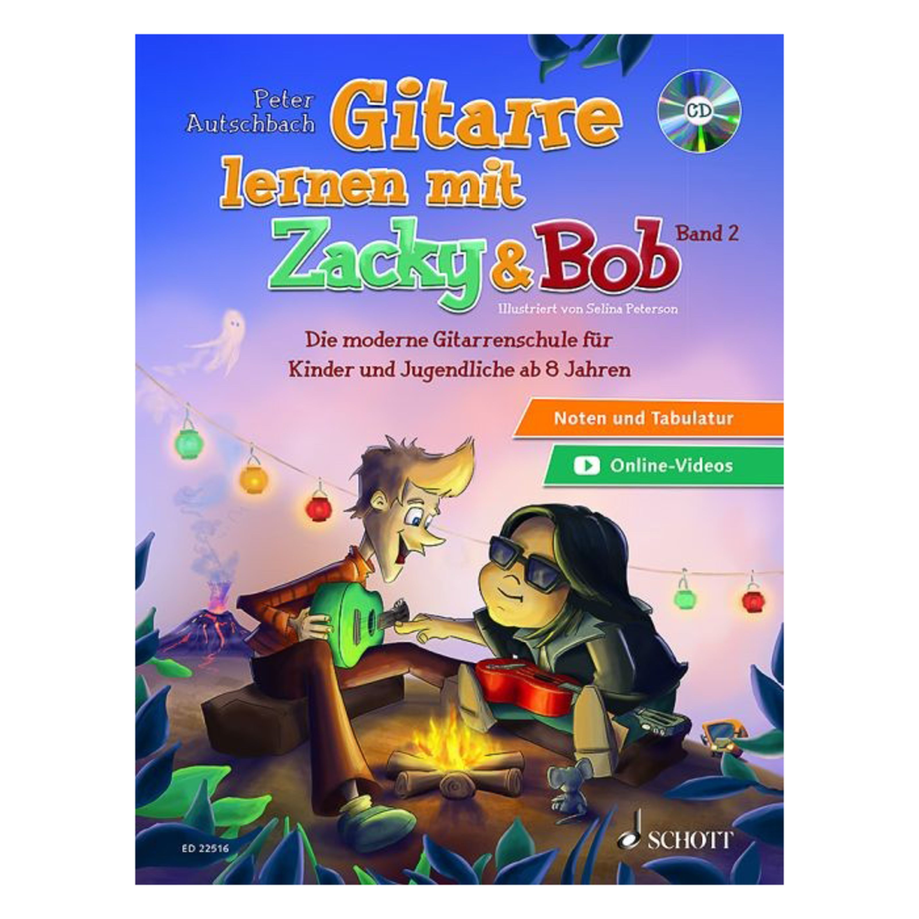 Schott Music - Gitarre lernen mit Zacky und Bob 2 ED 22516