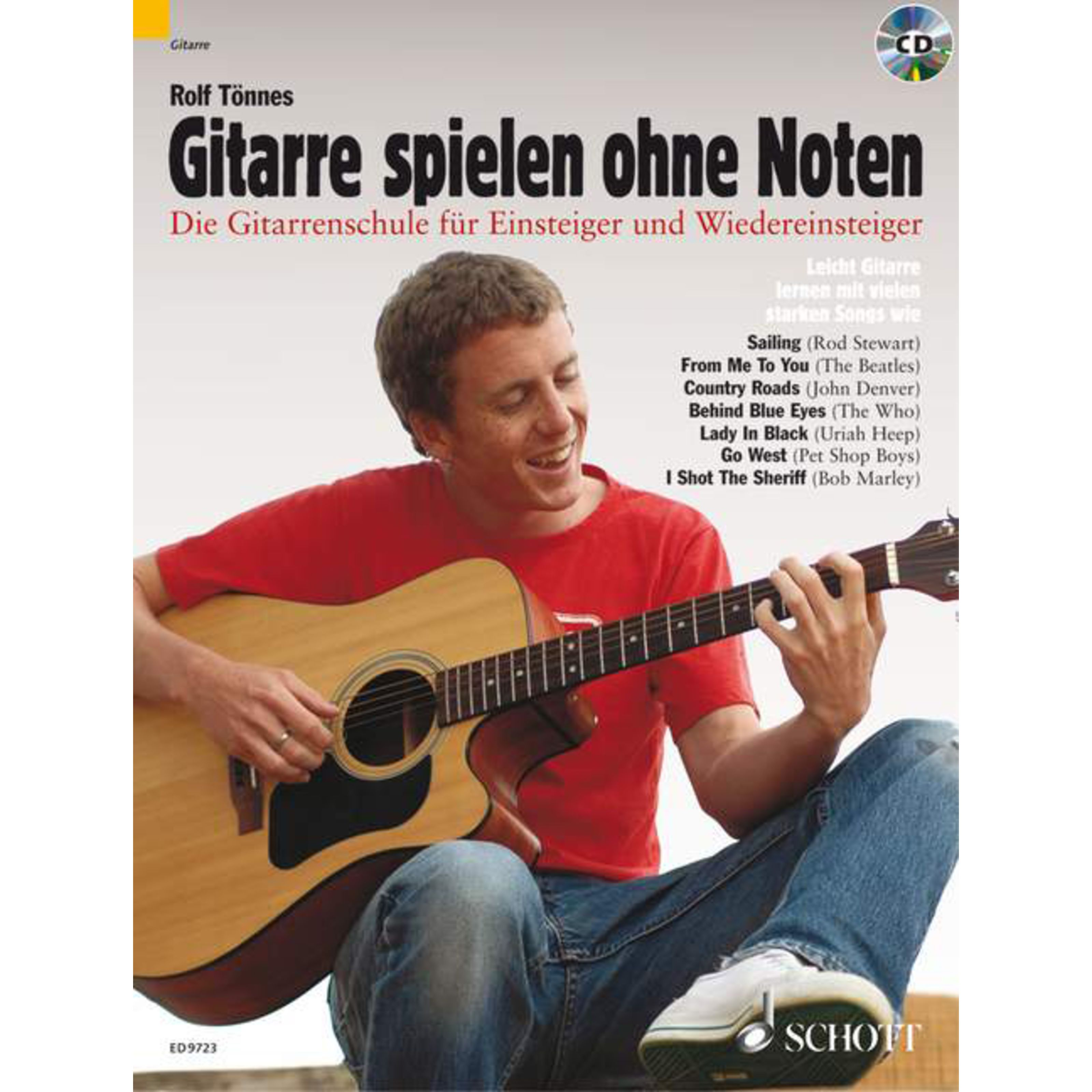 Schott Music - Gitarre spielen ohne Noten Tönnes, Lehrbuch und CD ED 9723