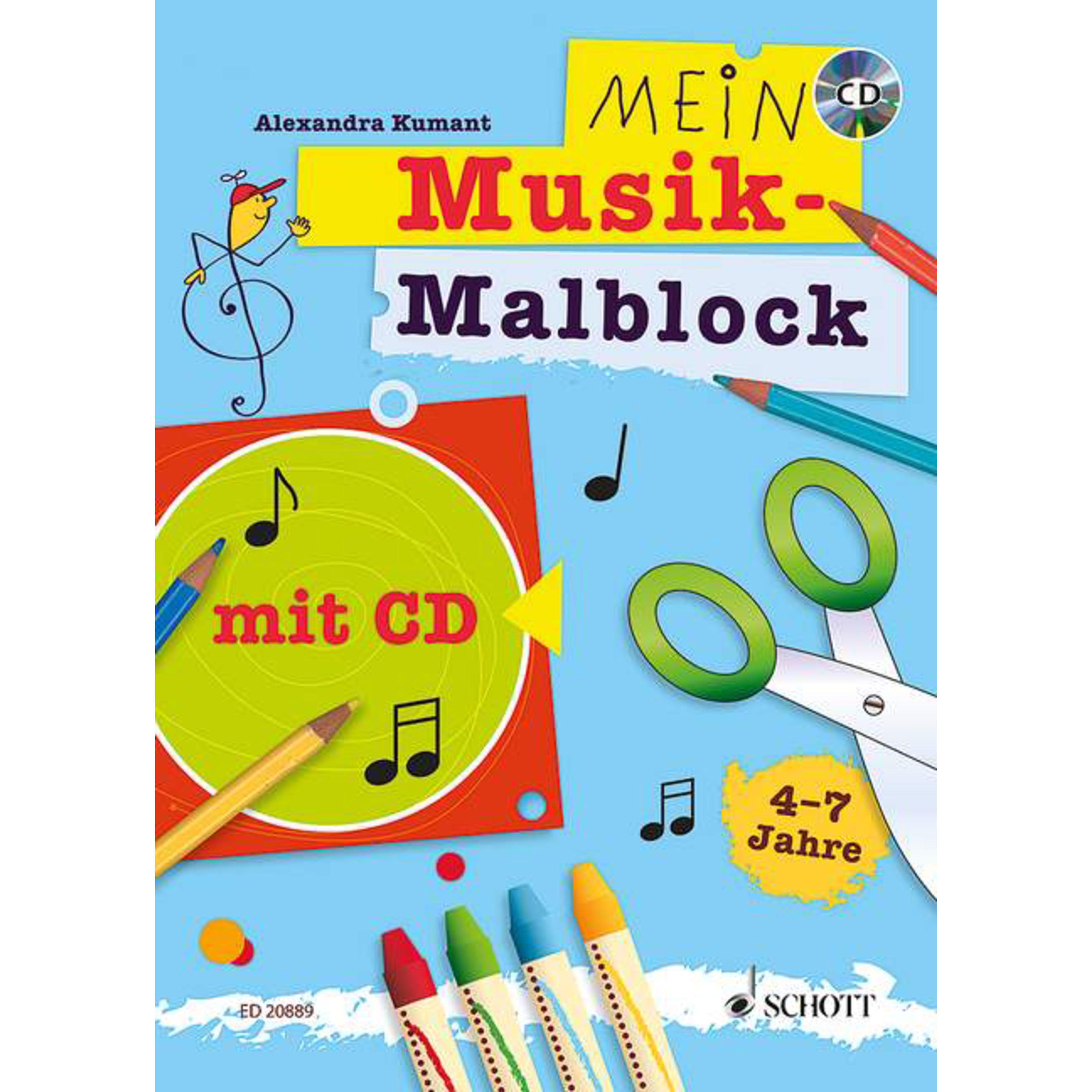 Schott Music - Mein Musik-Malblock mit CD, 4-7 Jahre ED 20889