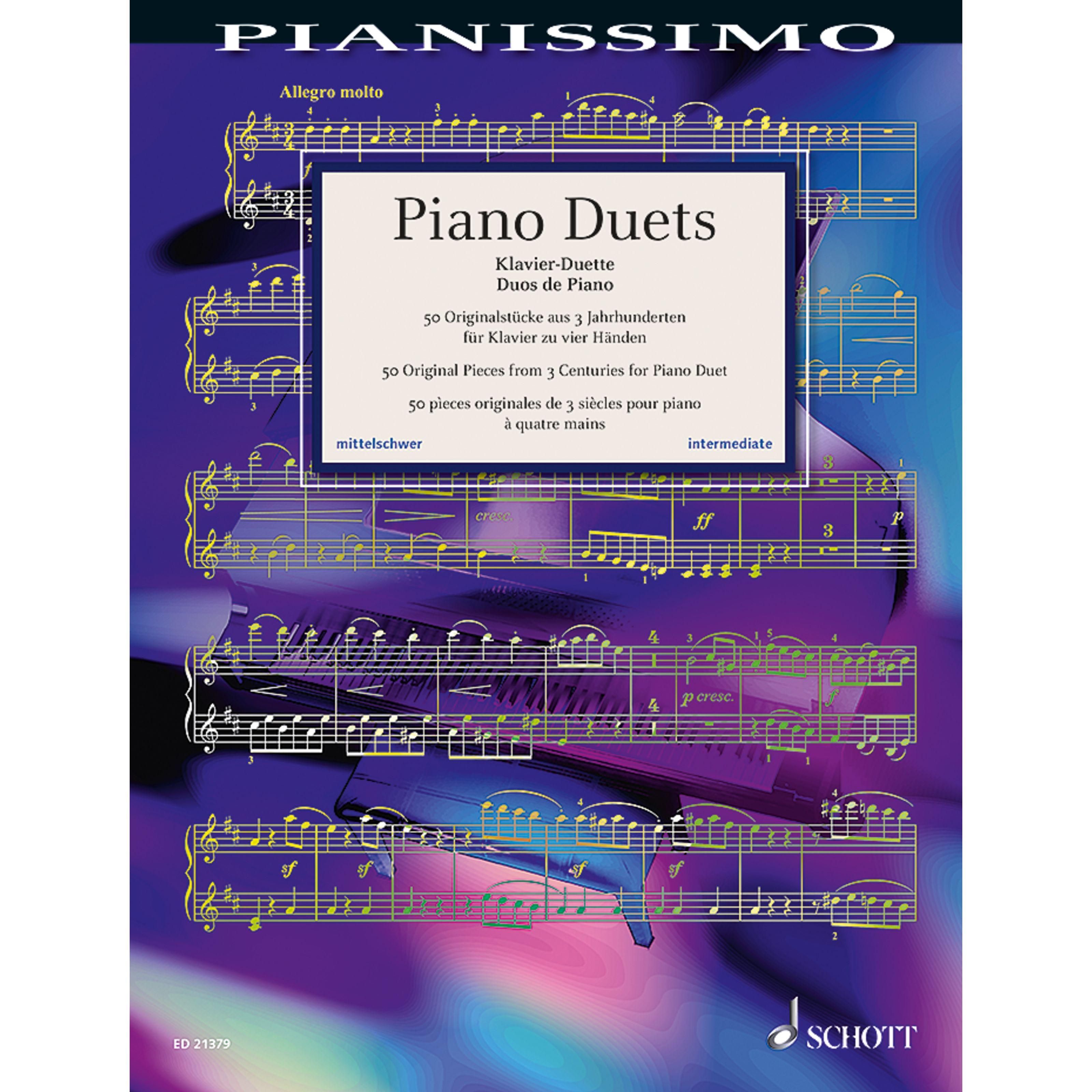 Schott Music - Piano Duets, 4ms Pianissimo ED 21379