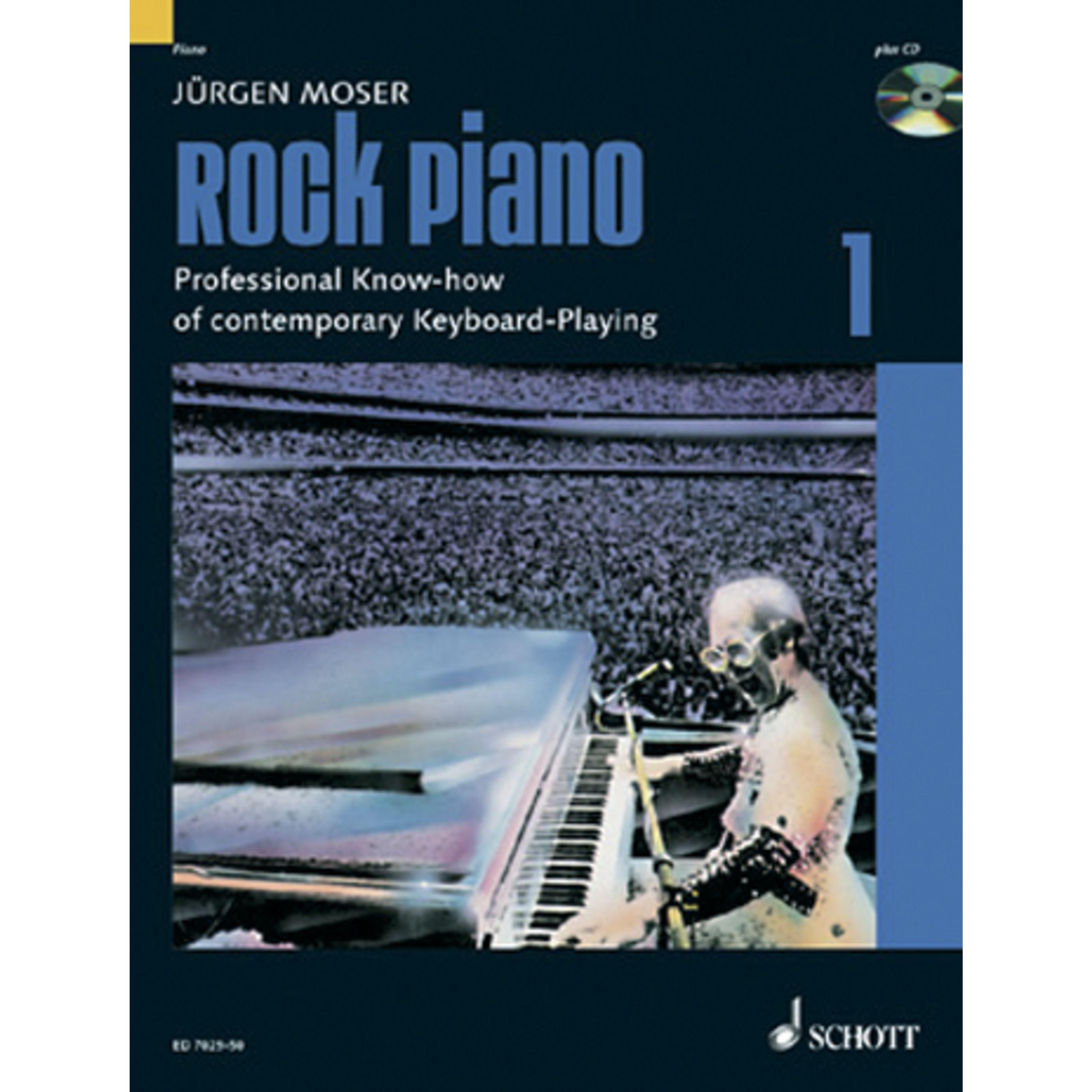 Schott Music - Rock Piano 1 Jürgen Moser,inkl. CD ED 7029