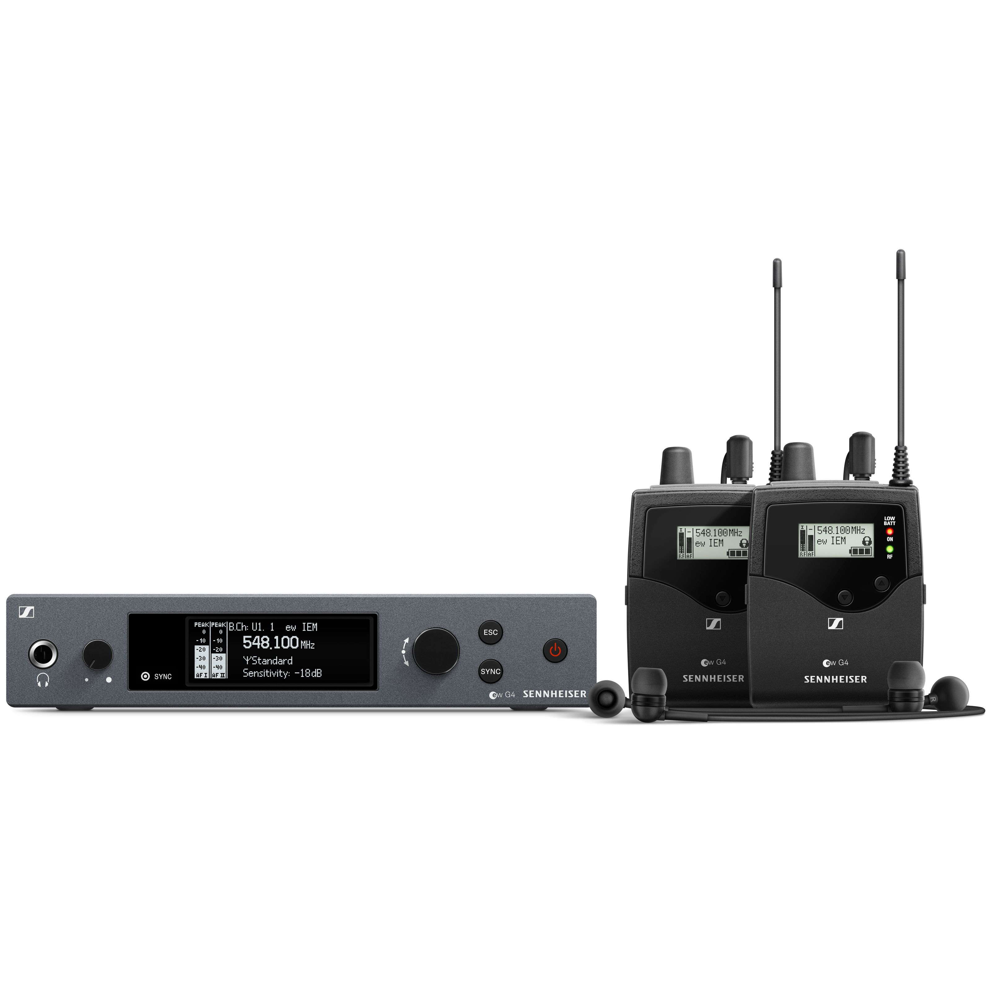 Sennheiser - ew IEM G4-TWIN-A Wireless Monitor Twin Set 507836