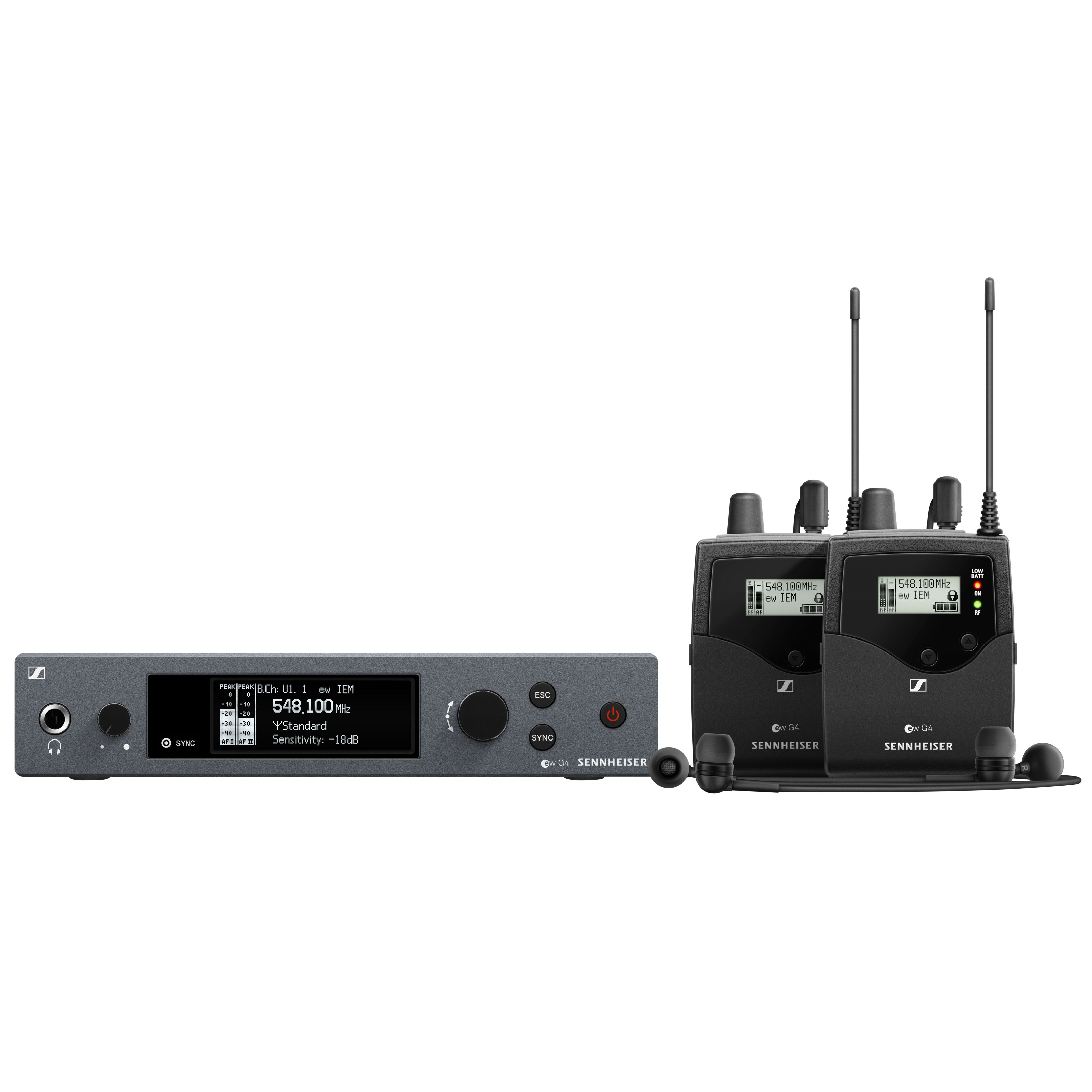 Sennheiser - ew IEM G4-TWIN-E Wireless Monitor Twin Set 507841