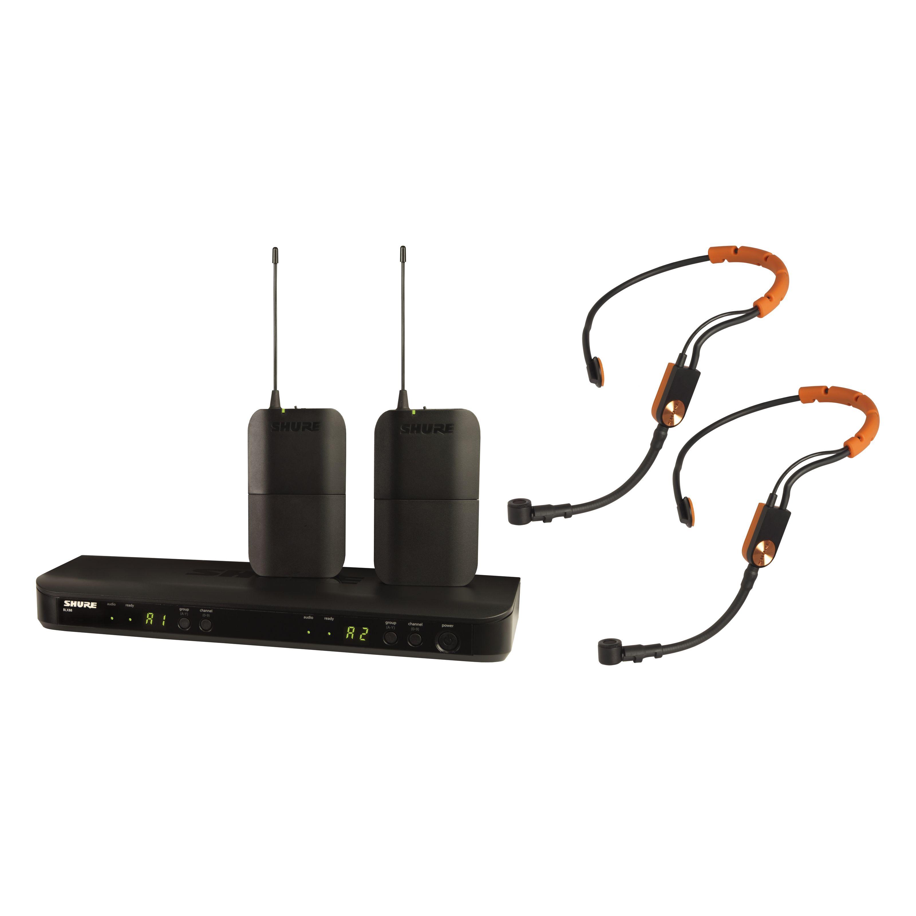 Shure - BLX188E/SM31, S8 Dual Fitness Headsetfunksystem BLX188E/SM31-S8
