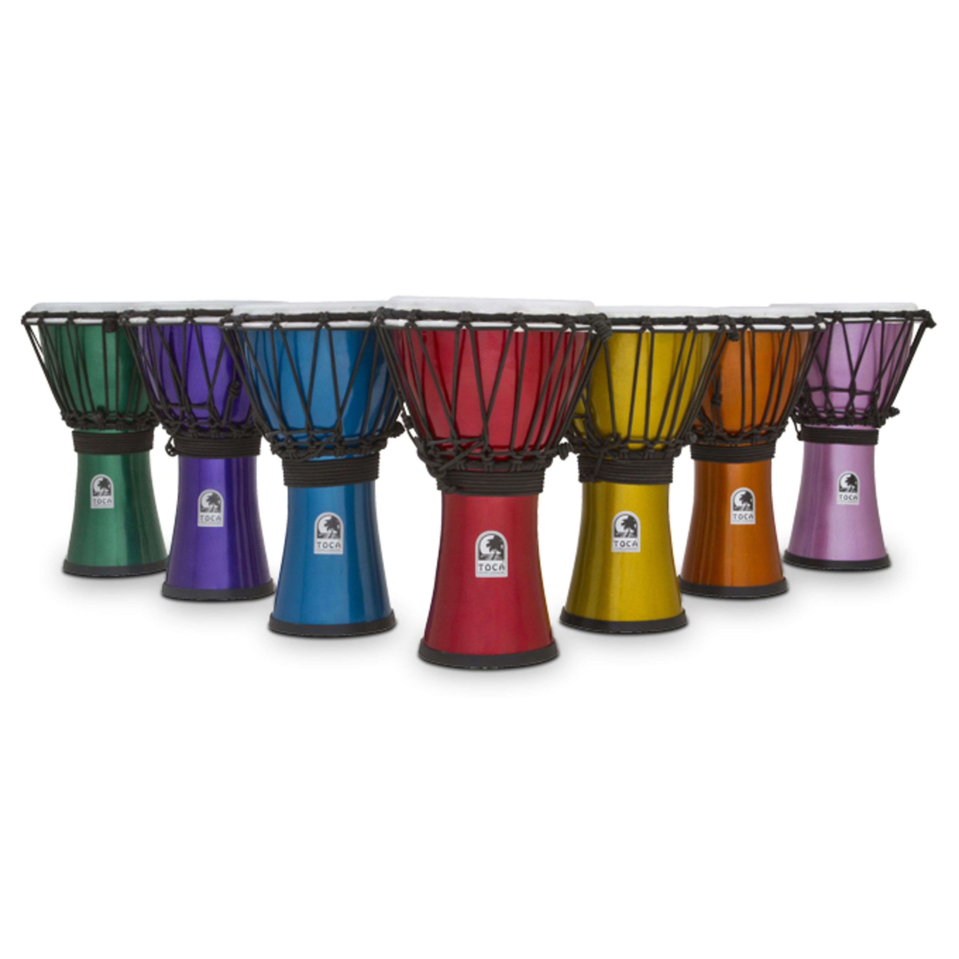 Toca Percussion - ColorSound Djembe TFCDJ-7MS, Djembe-Set, 7 Stück, 7 Farben