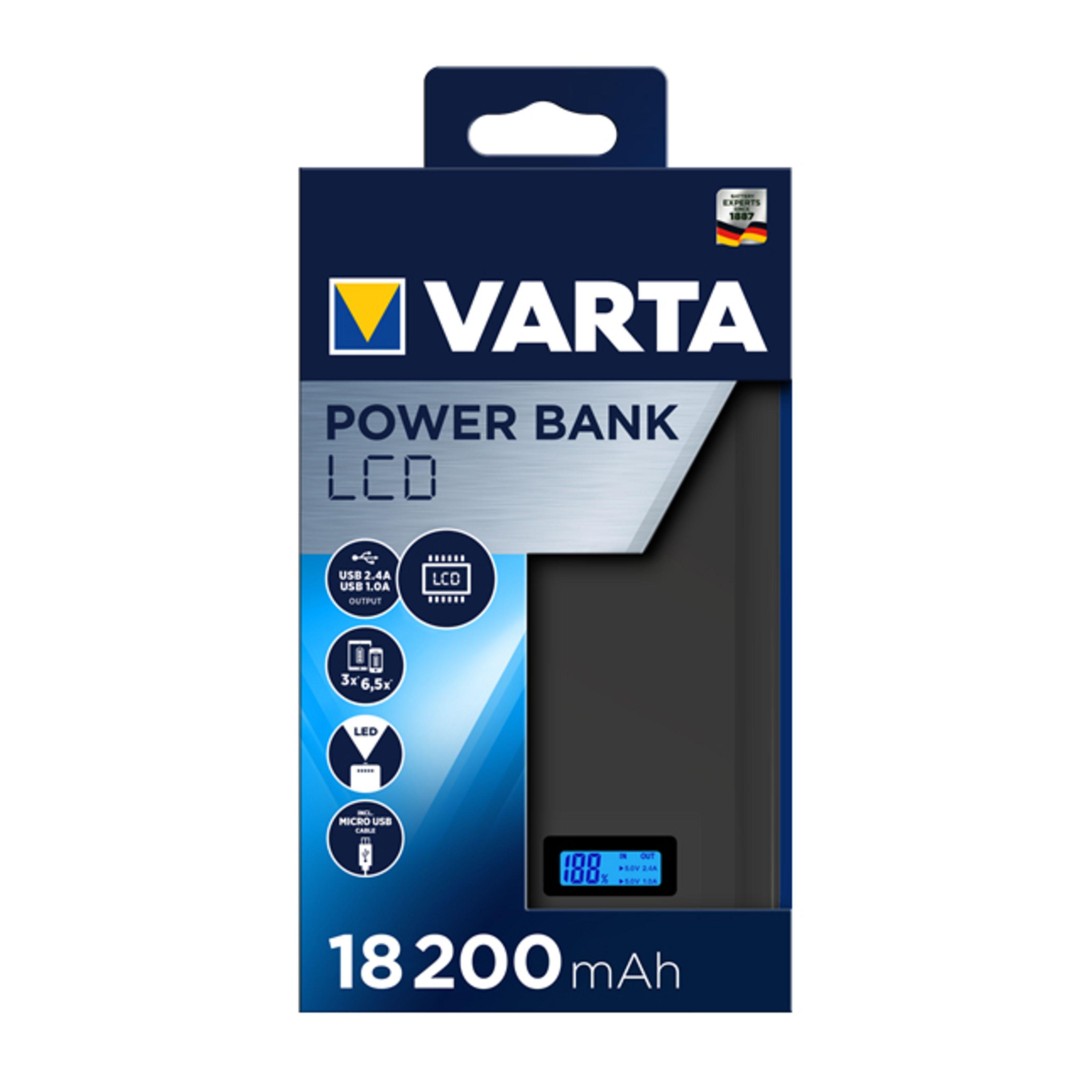 VARTA - LCD Powerbank 18200mAh 119642