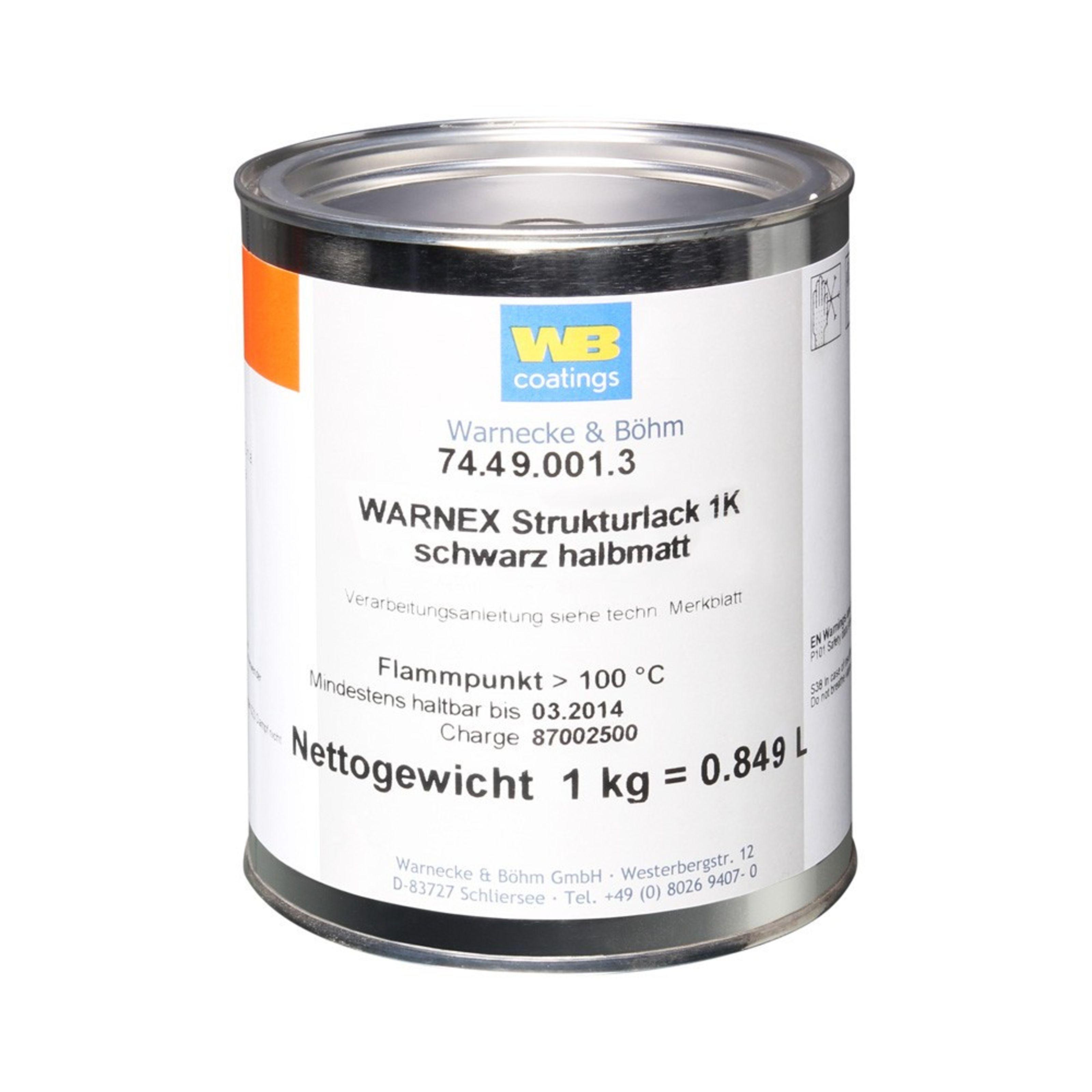 Warnex - Strukturlack 1 kg schwarz 0131
