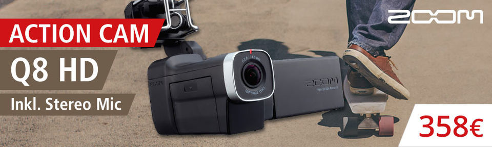 Zoom Q8 HD Action Camcorder