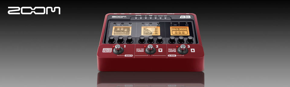 Zoom B3  Bass Effects/Amp Simulator