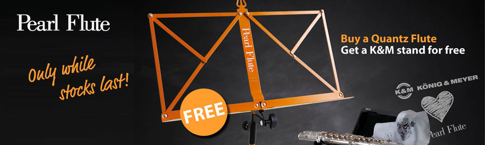 Pearl Flute - Promotion - K&M stand for free