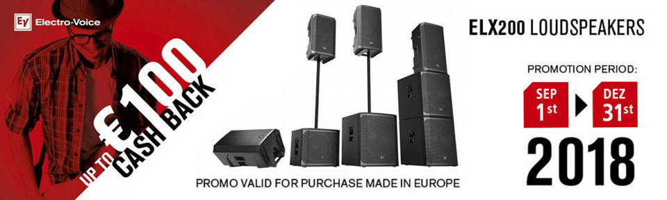 Electro-Voice ELX200 Cash Back Promotion