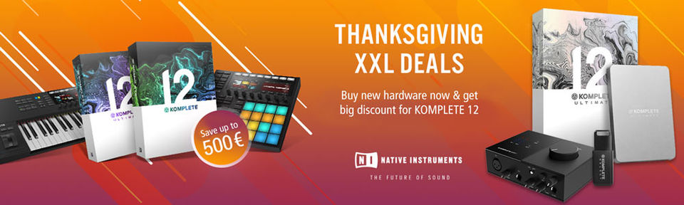 NATIVE INSTRUMENTS Thanksgiving XXL Deals