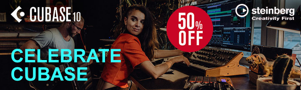 30 Years Cubase - 50% OFF - Celebrate!