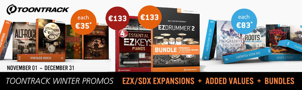 Toontrack Winter Promo 2019