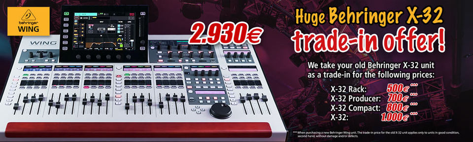 Behringer trade-in offer
